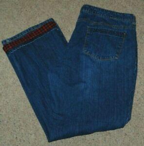 Natural Reflections 100% Cotton Flannel Lined Blue Denim Jeans Plus sz 18 38x30