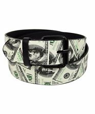 Men's Assorted Graphic Printed Buckle Belts Classic Fun Designs