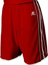"""NEW  Men's L Russell Athletic True Red 11"""" Basketball Gym Sports Shorts 34-38"""""""