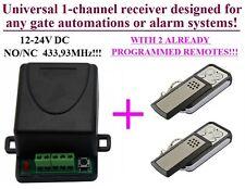 Funk Set Funksteuerung 2x Handsender mit 1 Kanal Funk Funkempfänger DC 12-24V
