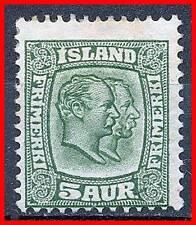 ICELAND 1907  KINGS SC#74 MH HR small SPOT  CV$92.50