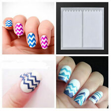 10 Sheets Nail Art French Manicure Guide ZiG ZaG Tips Manicure Stickers Stencils