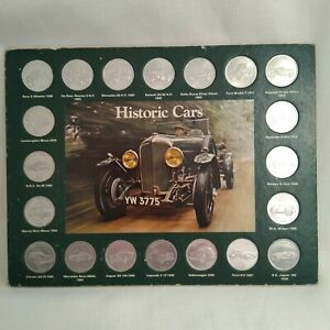 Historic Cars From Shell Coin Collection - Complete 20 Good condition