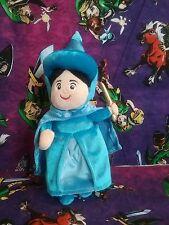"Sleeping Beauty Merryweather Blue Fairy Godmother Disney Store Plush Doll 10"""
