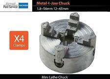 Mini lathe Metal 4-Jaw Chuck clamps 1.8~56mm 12~65mm Z011