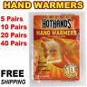 HotHands Hand Warmers 1 5 10 20 40 Pairs Safe Natural Odorless Pocket Heat