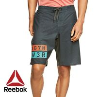 Reebok One Series Mens Crossfit Delta Allover Print Shorts Free Tracked Post