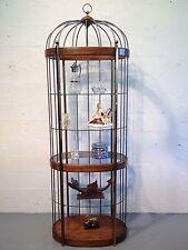 birdcage display cabinet curio china cabinet vitrine brass mastercraft hollywood