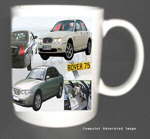 ROVER 75 SALOON CLASSIC CAR MUG. LIMITED EDITION XMAS