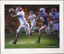 """ALABAMA FOOTBALL """"The Drive"""" signed print by Daniel Moore"""