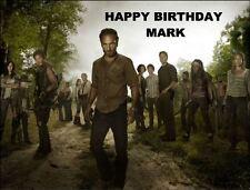 A4 Walking Dead Tv Show Fundido Comestible Glaseado Cumpleaños Pastel Topper