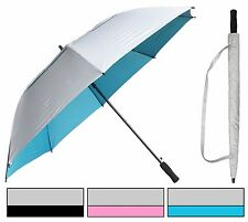 50� Arc Uv Silver-Coat Windbuster Golf Auto-Open Umbrella-RainStoppers Rain/Sun