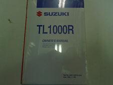 1999 Suzuki TL1000R Owners Operators Owner Manual BRAND NEW FACTORY