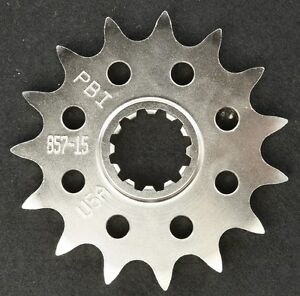 PBI - 857-15 -  Front Countershaft Sprocket, 15T - Made In USA