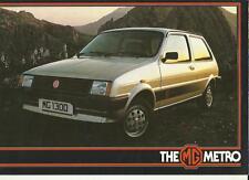 Mg Mini Metro 1300 folleto de ventas primeros años 80