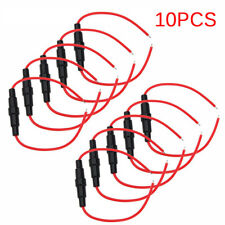 New listing 10 Pcs 5X20Mm Fuse Holder Case In-Line Screw Type With Wire Cable Stock Sl