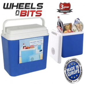 Large 12V & 230v Mains Cool Box 22 L Litre Portable Cooler Box High Quality Ice