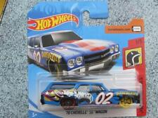 Hot Wheels 2018 # 000/365 1970 CHEVELLE SS Wagon Azul HW TEMERARIOS Funda E