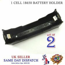 2x DIY 18650 Li-Po Cell Battery Plastic Holder 3.7V PCB Case 3.6V 4.2V Box