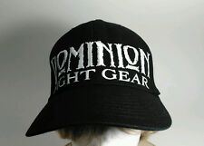 Dominion Fight Gear Stretch-Fit Black Baseball Cap Hat S-M