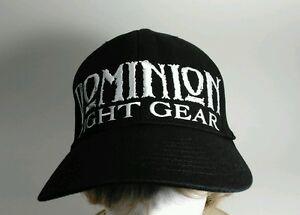 Dominion Fight Gear Stretch-Fit Black Baseball Cap Hat S-M