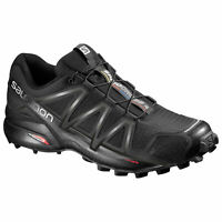 Salomon Speedcross 4 383130 Black/Black/Black Metallic Mens Hiking Hiker Shoes