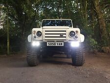 Land Rover Defender Quad DRL Bumper ** Billet surrounds**