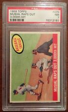 1959 Topps #470 Stan Musial Raps Out 3,000th Hit PSA 7 NM St Louis Cardinals