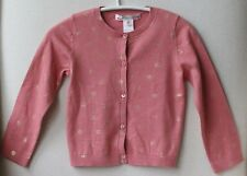BONPOINT PINK AND SPARKLY GOLD BABY CARDIGAN 2 YEARS