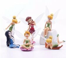 FAIRY TINKERBELL PIXIE SET OF 6 FIGURES CAKE TOPPERS MAGICAL FAIRIES