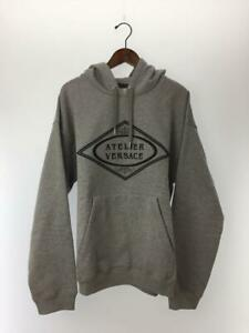Versace  L  Gray Cotton Fashion parka 10224 From Japan