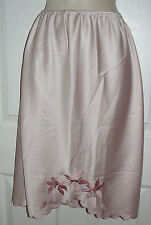 Polyester Small Light Lilac Sexy Slip Pristine Petticoat Embroidered Flowers