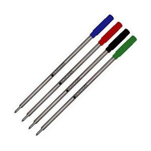 4 X - Monteverde C13 Soft Roll Ballpoint for Cross Ballpoint Pens - Multi Color