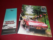1961 CHEVROLET CORVETTE BROCHURE / CATALOG + BONUS SERVICE ITEM '61 CHEVY 'VETTE