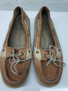 Sperry Top-Sider Angelfish Womens Round Toe Tan Boat Shoes Size 12 M 9102047