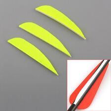 "50pcs Handmade Hunting Arrow 3"" Drop Shape Natural Turkey Feathers Fletching"