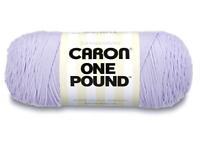Yarnspirations Caron One Pound (Lilac) 812 Yards Yarn Knit Crochet, 32 OZ Skein