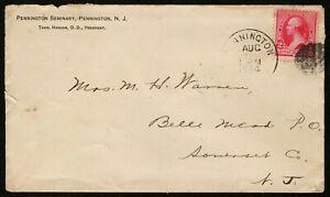 US 1894 #220 Pennington Seminary NJ Adv Cover Fancy Cancel