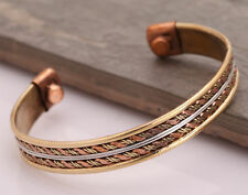 Unisex Magnetic Healing Bio Therapy Tibetan Pain Relief Copper Bracelet