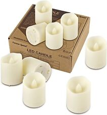 Flammenlose LED Adventskerzen im 4er Set gold Kerzenhalterungen Metall warmweiß