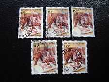 COTE D IVOIRE - timbre yvert/tellier n° 740 x5 obl (A28) stamp