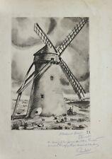 Pierre VALADE(1909-1971)Moulin Gourdin Pihen-les-Guînes Pas de Calais île renard