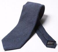 TOM FORD 8cm Textured Blue 100% Cashmere Tie BNWT