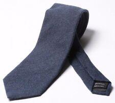Tom Ford 8CM TESTURIZZATO BLU 100% cashmere cravatta BNWT