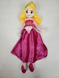 "Disney Aurora Sleeping Beauty 19"" Plush Princess Pink Dress Stuffed Toy"
