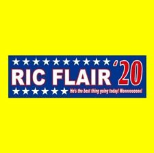 "Funny ""RIC FLAIR '20"" President BUMPER STICKER Nature Boy 2020 NWA WCW WWF WWE"