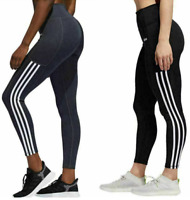 NEW!!! Adidas Ladies' High Waist 7/8 3-Stripe Active Tight With Pocket VARIETY!!