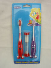 TOOTHBRUSH PACK OF 2 SUCTION BASE AND TIMER