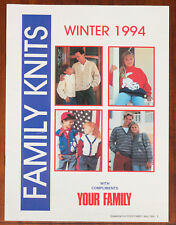 Family Knits Knitting Pattern Your Family Supplement Winter 1994 Family Vintage