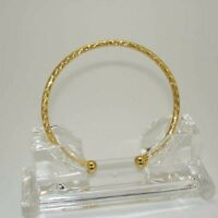 18k Yellow Gold Filled Open Bangle 65mm 3MM Women Bracelets GF Fashion charm Hot